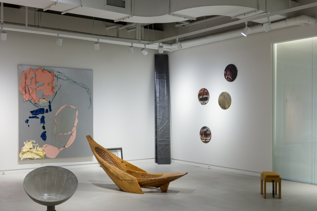 Works by Joyce Kim, Jonathan Monk, Diogo Pimentão, Miriam Cabessa, Wintercheck Factory, Hugo França, and Natalia Roumelioti & Odysseas Olysseou. Photo: Jinkyun Ahn. Courtesy of Christina H. Kang.