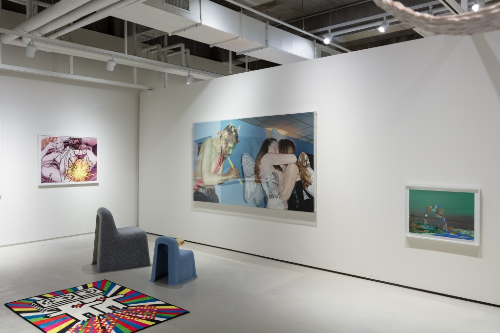 Works by Cindy Workman, Jon Flack, Dan Kopp, Komplot, M/M (Paris). Photo: Jinkyun Ahn. Courtesy of Christina H. Kang.