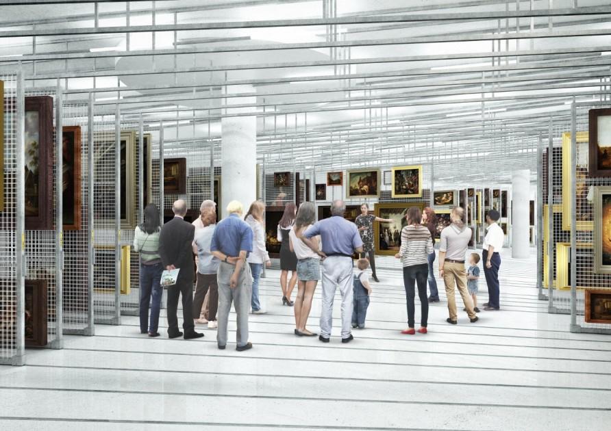 Artist impression - Depot, Public Art Depot Museum Boijmans Van Beuningen Rotterdam. Design: MVRDV.