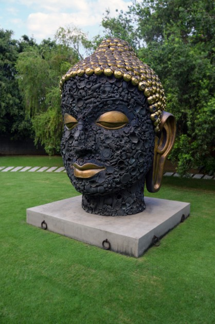 Subodh Gupta, Buddha Head, 2012. Photo: Shalini Passi. Courtesy of Shalini Passi.