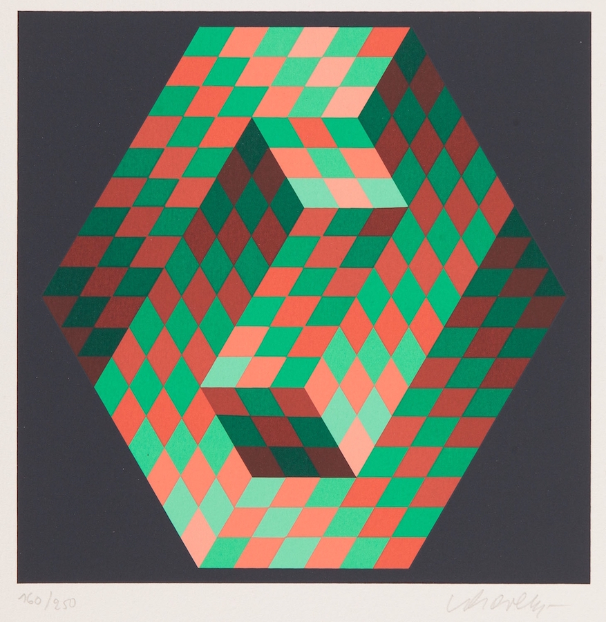 Victor Vasarely, Composition nr 3, 1989. Courtesy of Paweł Kowalewski.