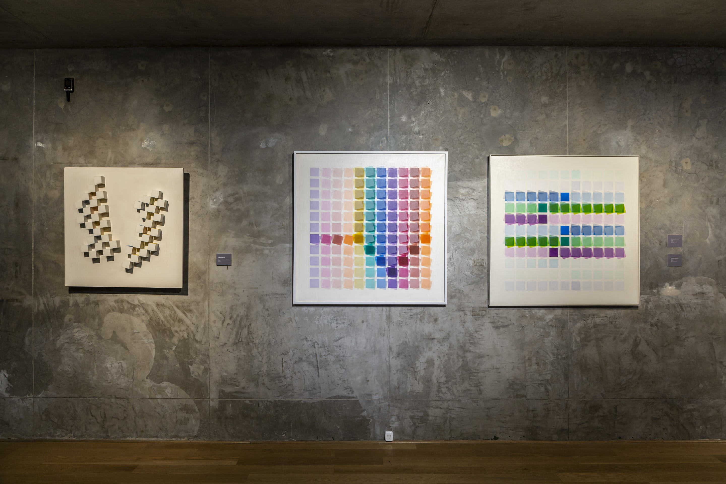 Works by Luis Tomasello (left) and Manuel Espinosa (right). Photo: Bruto Studio. Courtesy of MACBA