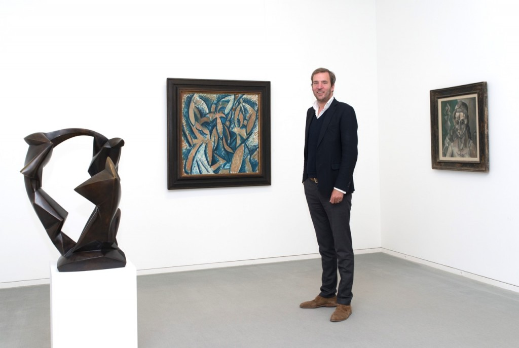 Artworks in the background by Pablo Picasso. Photo: Michael Herling.