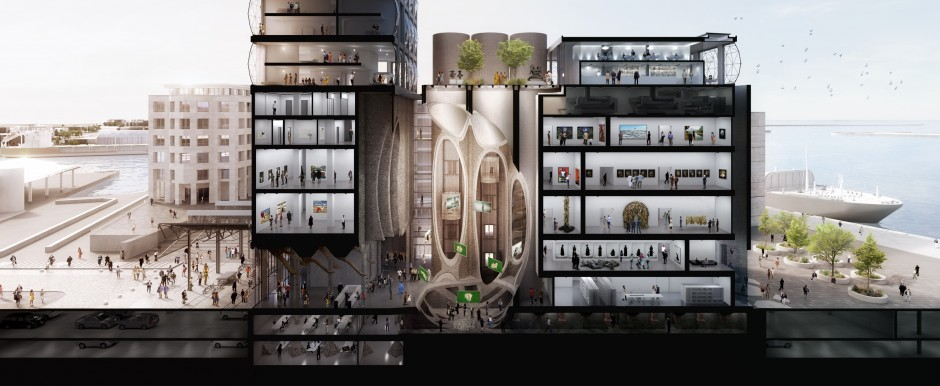 Zeitz MOCAA Cross Section. Courtesy of Jochen Zeitz.