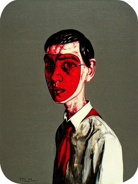 Zeng Fanzhi, Untitled N°3, 2004, 80x60cm. Courtesy of Fabien Fryns