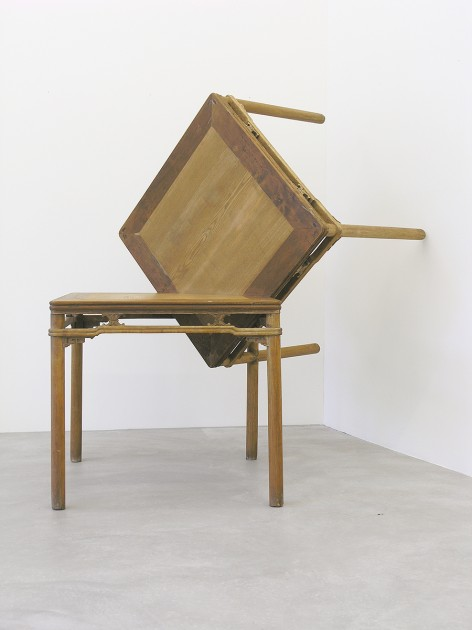 Ai Weiwei, Tables at Right Angles, 1998. Courtesy of Stockamp Tsai Collection.