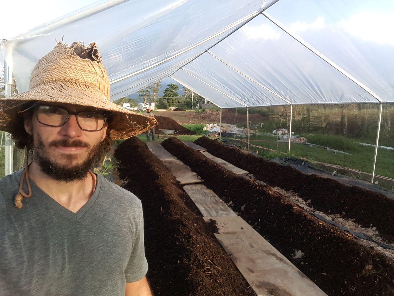 Antonio in the tobacco farm. Courtesy of Antonio Castro Barreto.
