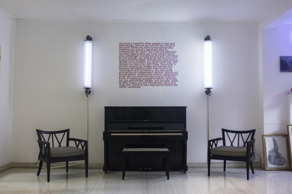 Phillipe parreno, Flickering Lights; and Heman Chong, The Forrer Effect. Courtesy of Natasha Sidharta.