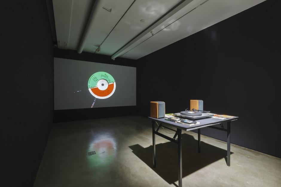 "Duto Hardono, ""CC Records"", Video and record venial machines, 2013. Photo credit: SongEun ArtSpace."