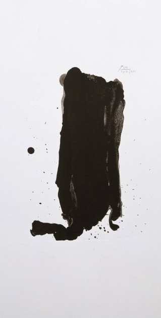 Robert Motherwell, Brushstroke, 1980. Lithograph on paper, 16 x 12 in. Courtesy of Dennis Scholl.