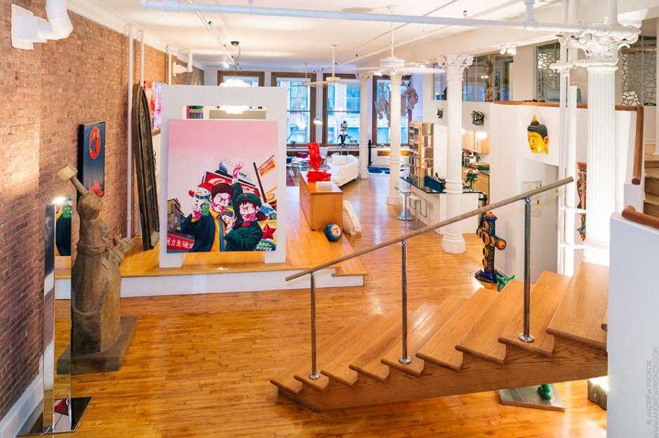 Holly Hager's SoHo loft. Photo: Andrew Prokos.