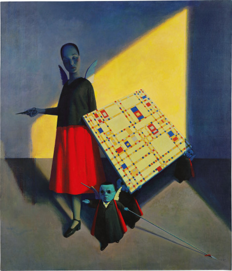 Liu Ye, She Isn't Afraid of Mondrian, 1995, acrylic and oil on canvas, sold for HK$26,550,000 at Phillip's 20th Century & Contemporary Art Evening Sale on 24 November 2019