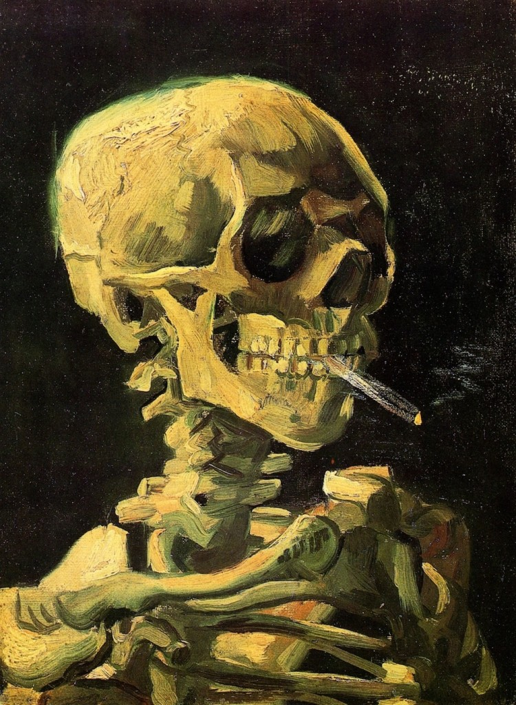 Vincent Van Gogh, Skull with Burning Cigarette. Image from: thecreatorsproject.vice.com