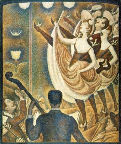 George Seurat, Can-Can (le Chahut), 1890. Image from: artble.com