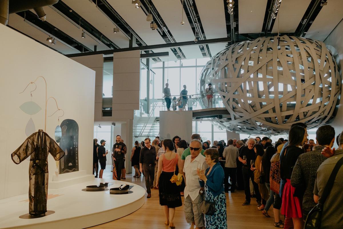 Exhibition opening at Esker Foundation, 2018. Photo: Allison Seto. Courtesy of Esker Foundation.