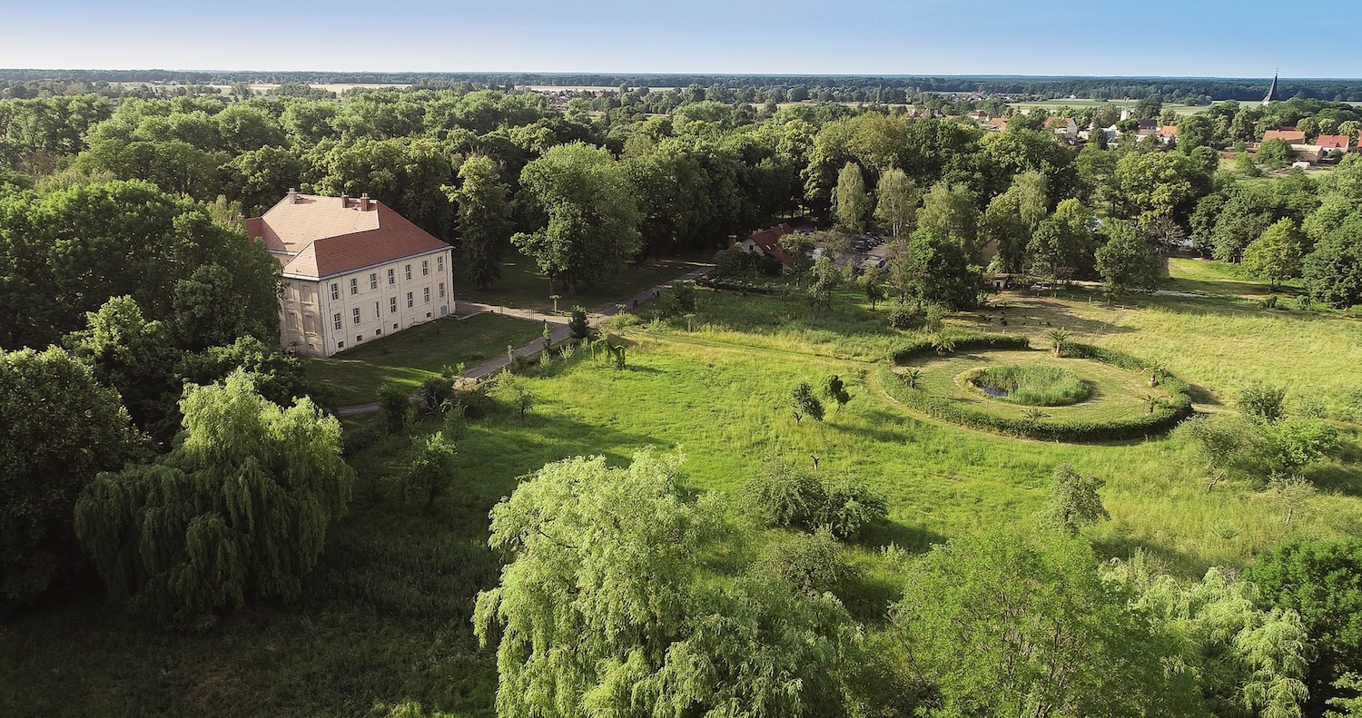 "Aerial view of Schlossgut Schwante Sculpture Park. Courtesy of Schlossgut Schwante Sculpture Park. ""Sculpture & Nature"" at Schlossgut Schwante Sculpture Park, 19 June – 30 October 2020, schlossgut-schwante.de"