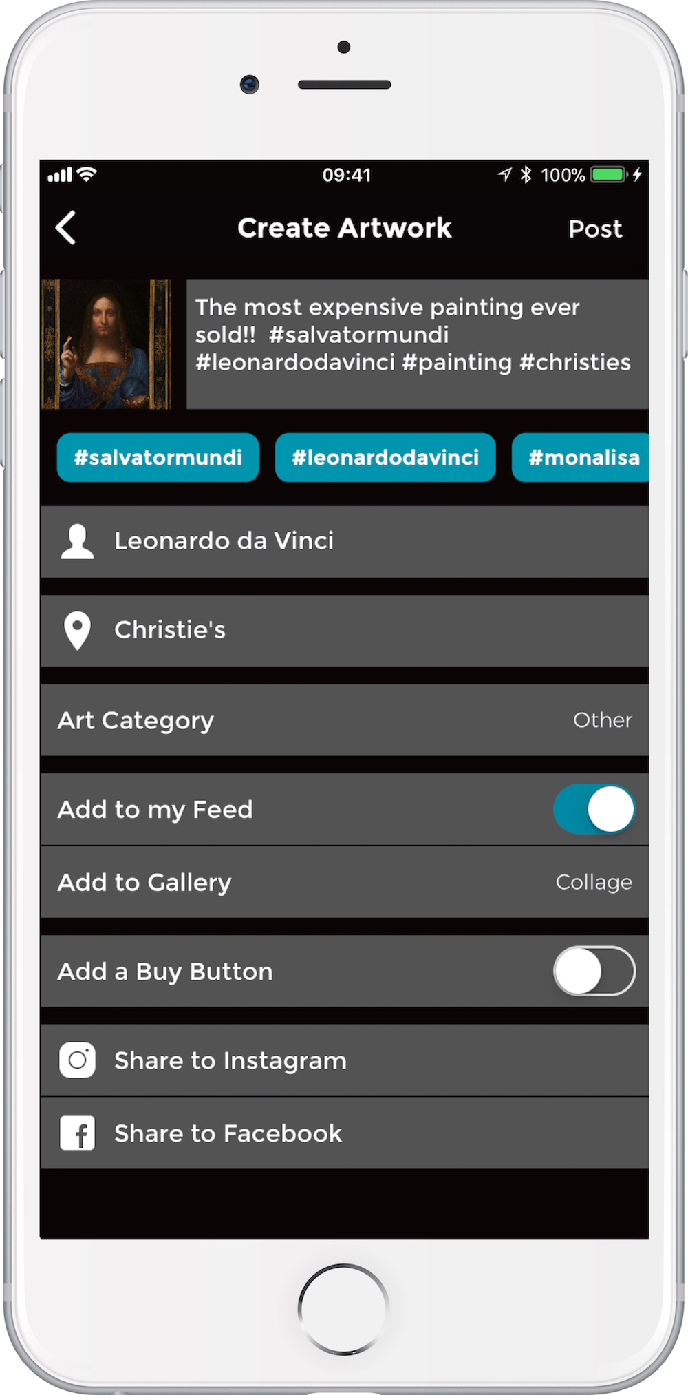 ArteVue App Screentshots v2.0 - Screen 1