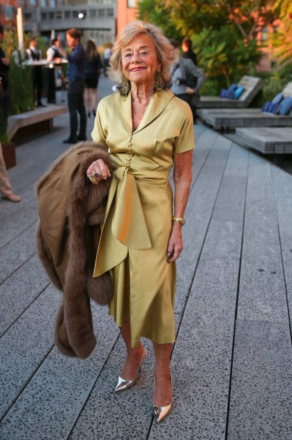 Collector Laura Skoler attending the 2014 High Line Art Dinner, <<The Shift>>.