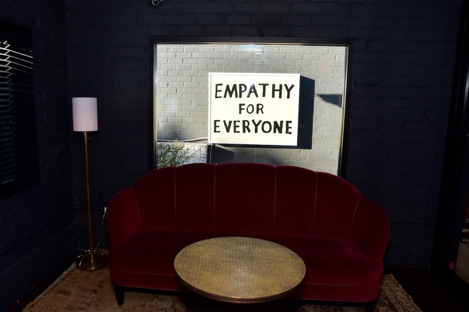 Andy's most treasured piece: Sam Durant, Empathy for Everyone. Photo: Stefanie Keenan. Courtesy of Andy Brandon-Gordon.