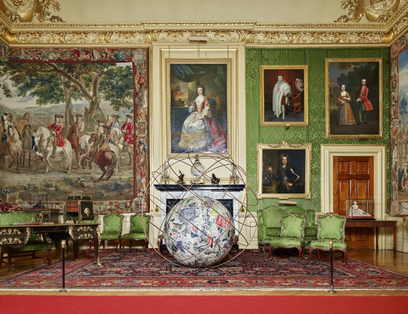 Micheangelo Pistoletteo's artwork surrounded by history at Blenheim Palace. © Tom Lindboe, 2016.