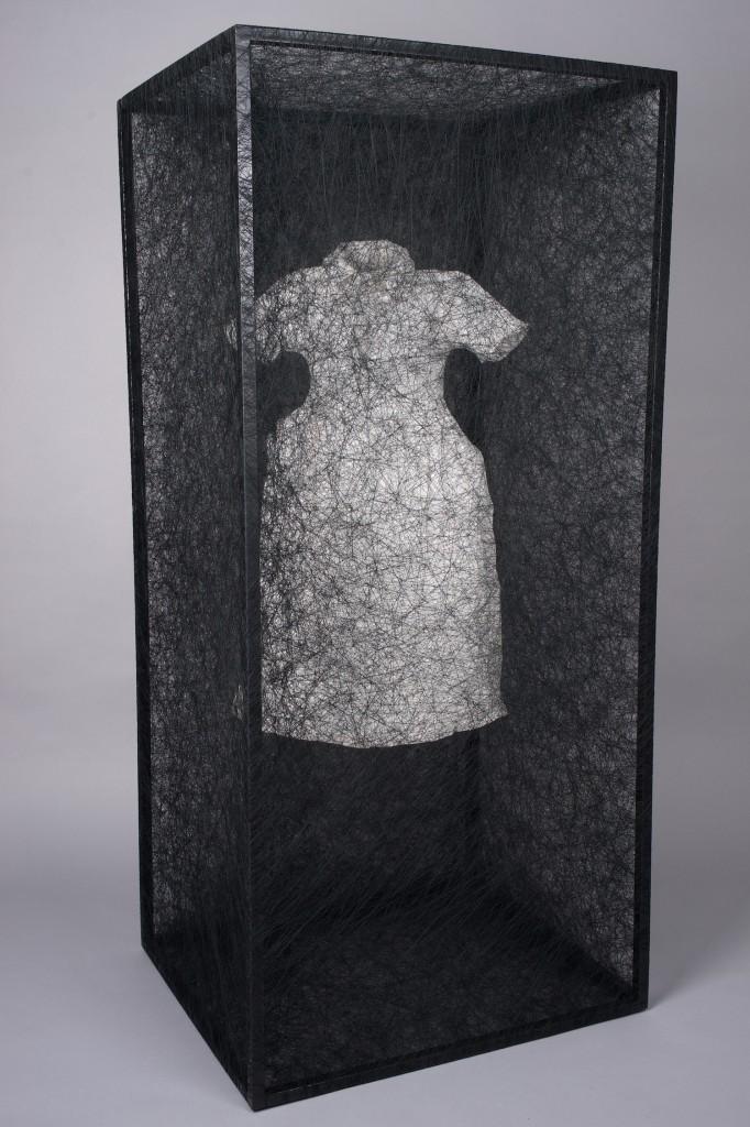 Chiharu Shiota, State of Being ( Dress), 2015. Courtesy of Elgiz Museum.