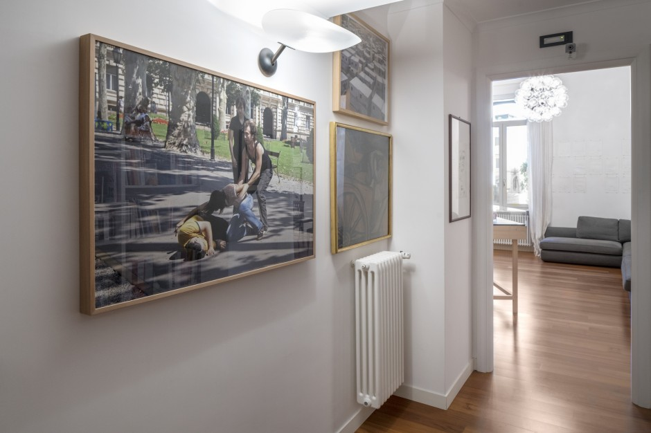 Francesco Taurisano's apartment. In the corridor, works by Igor Grubic, Amir Yatziv, Renato Guttuso. Naples, Italy. Courtesy of CollezioneTaurisano. Photo: Maurizio Esposito.