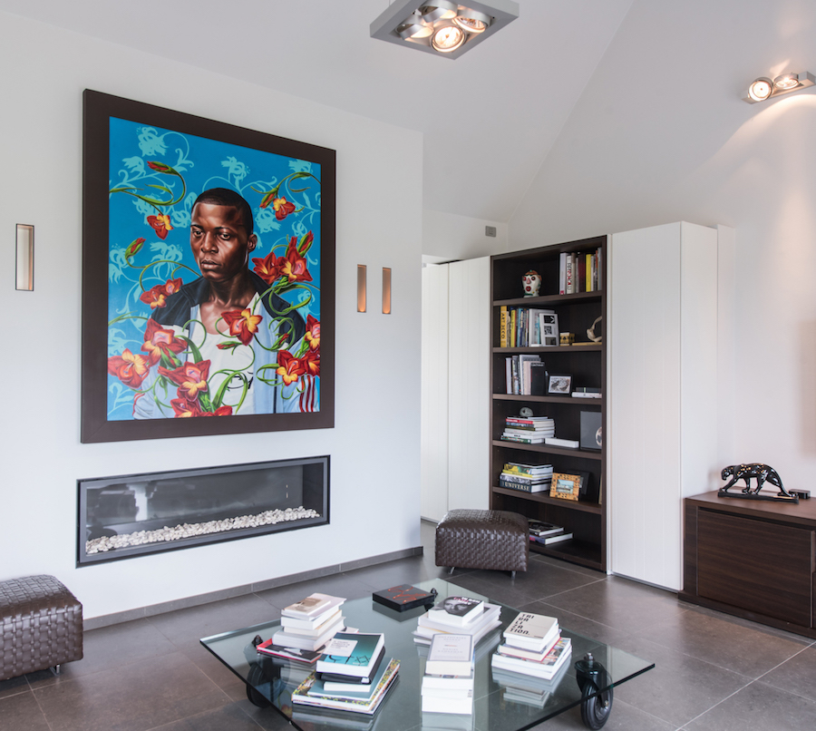 A painting by Kehinde Whiley as the centerpiece. Courtesy of Sabine and Rik Depla-Lantsoght.