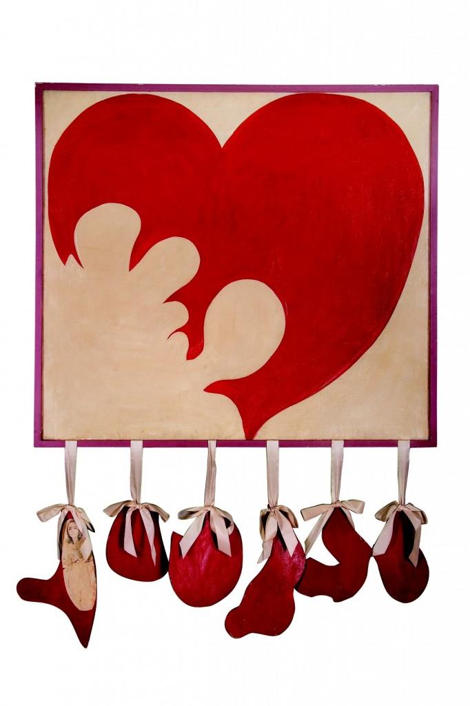 Corazón destrozado (Broken Heart), Delia Cancela, 1964, 150 x 120 cm. Courtesy of Mauro Herlitzka