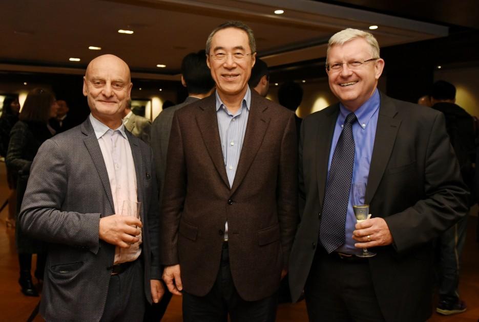Dr. Uli Sigg, Henry Tang and Duncan Pescod