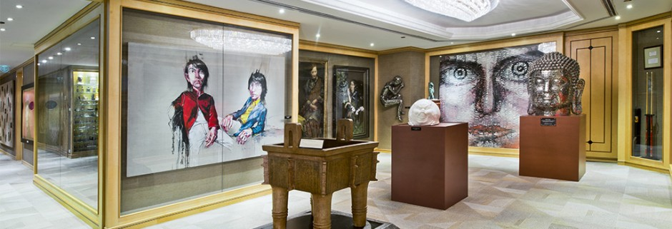 Inside the Parkview Arts Collection in Hong Kong exhibiting works by Zeng Fanzhi among others. Courtesy of George Wong.