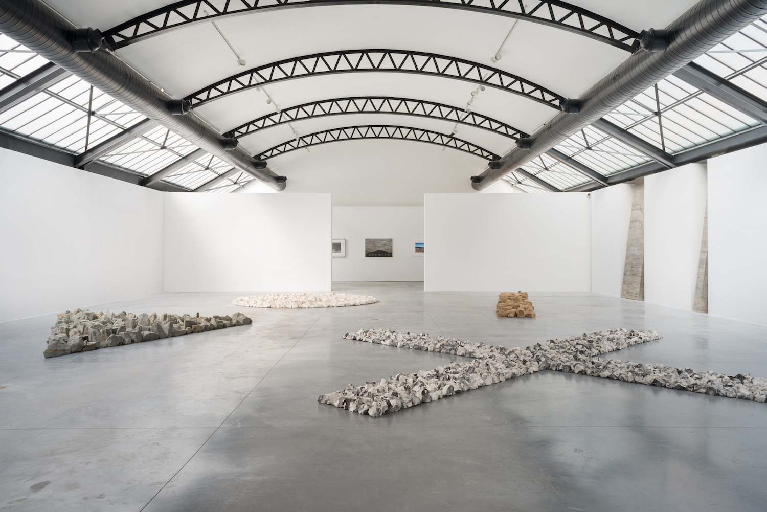 Exhibition view, 'Along the Way' Richard Long, at Fondation CAB. Courtesy of Fondation CAB.