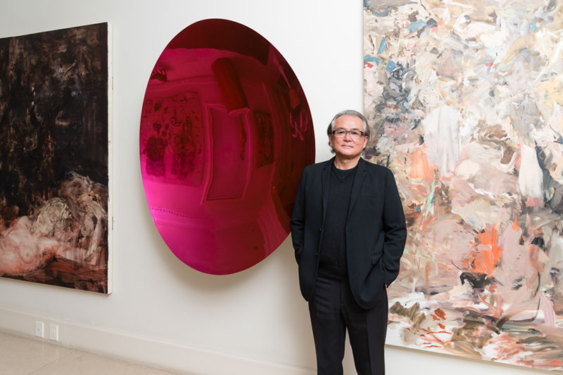 Artworks by Cecily Brown, Anish Kapoor and Cecily Brown. Photo: Fernando Chaves. Courtesy of Ricard Akagawa.