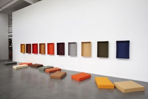 "Franz Erhrad Walther, ""Marburger Gesang"", Installation 1991. Photo: Enea Righi Collection"
