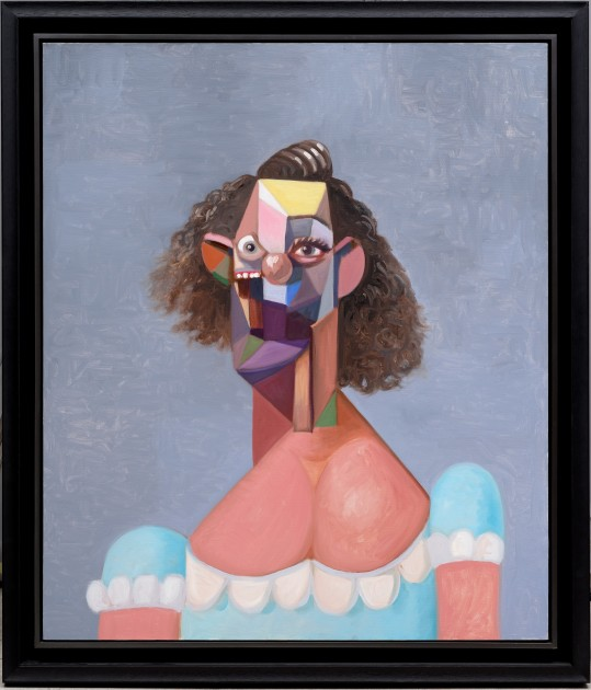 GEORGE CONDO b. 1957 Young Girl with Blue Dress, 2007