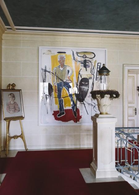 A Jean-Michel Basquiat painting in the castle in Regensburg. Courtesy of Robert Schmidt.