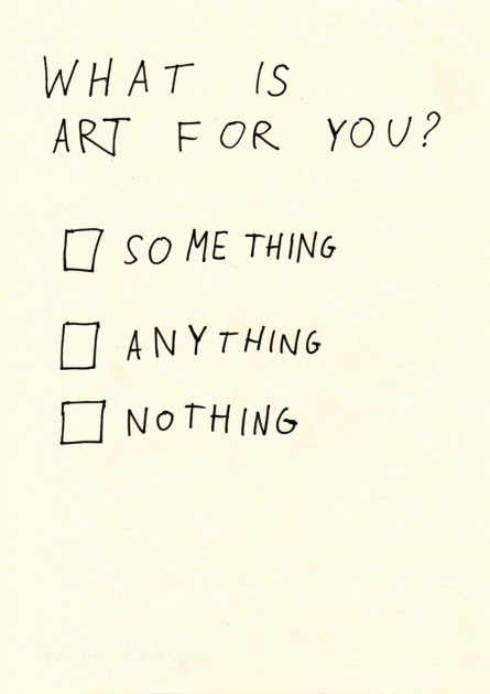 Gregor Rozanski, What is art for you (Poll), 2009-2010. Courtesy of Borowik Collection.