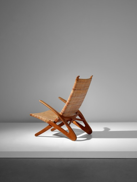 HANS J. Wegner (1914 – 2007) Rare 'Dolphin' folding armchair, model no, JH510,  designed 1950