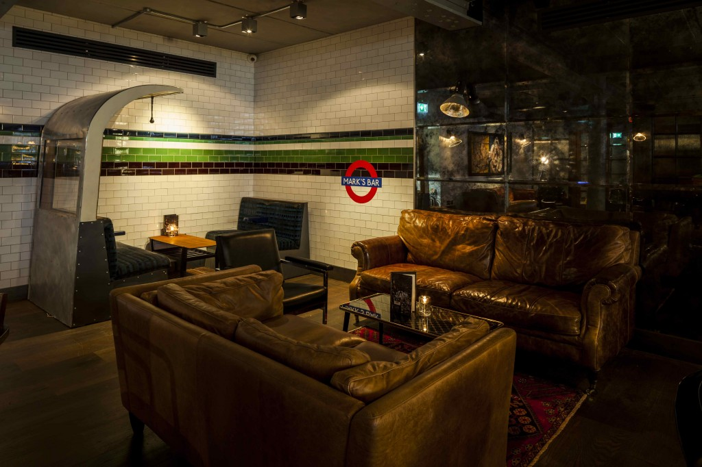 Helen Chadwick tube at Marks bar Hixter Bankside, courtesy of