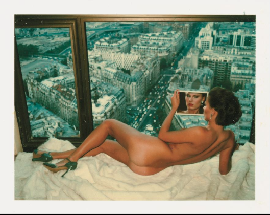 "Helmut Newton, ""Bergstrom over Paris"", 1976. Photo: Forbes"