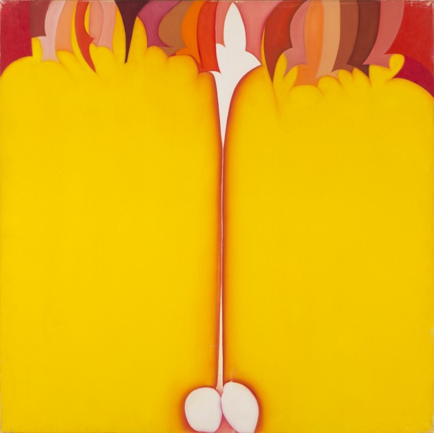 Huguette Caland, Bribes, acrylic on canvas, 1979. Courtesy of the artist and Abraham Karabajakian.