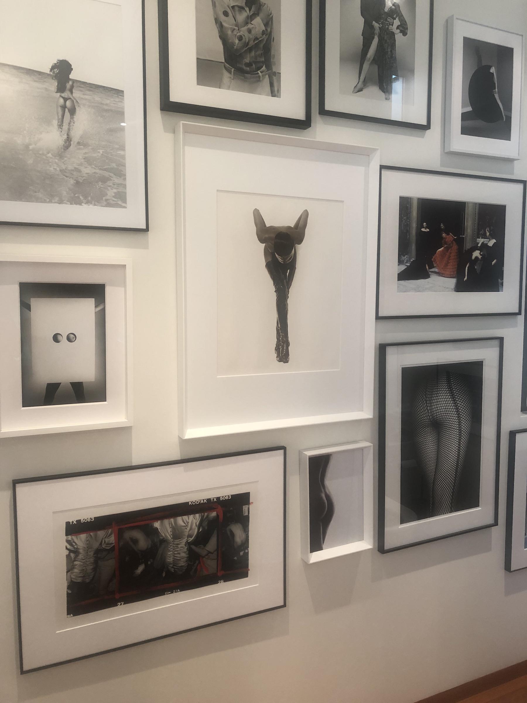 Wall with all the fashion photographs: Pamela Hanson, Michel Comte, Terry, O'Neill, Noè Sendas, Carlo Orsi, Herb Ritts, Deborah Turbeville, William Klein, Daido Moriyama, Mario Testino. Courtesy of Bruno Bolfo.