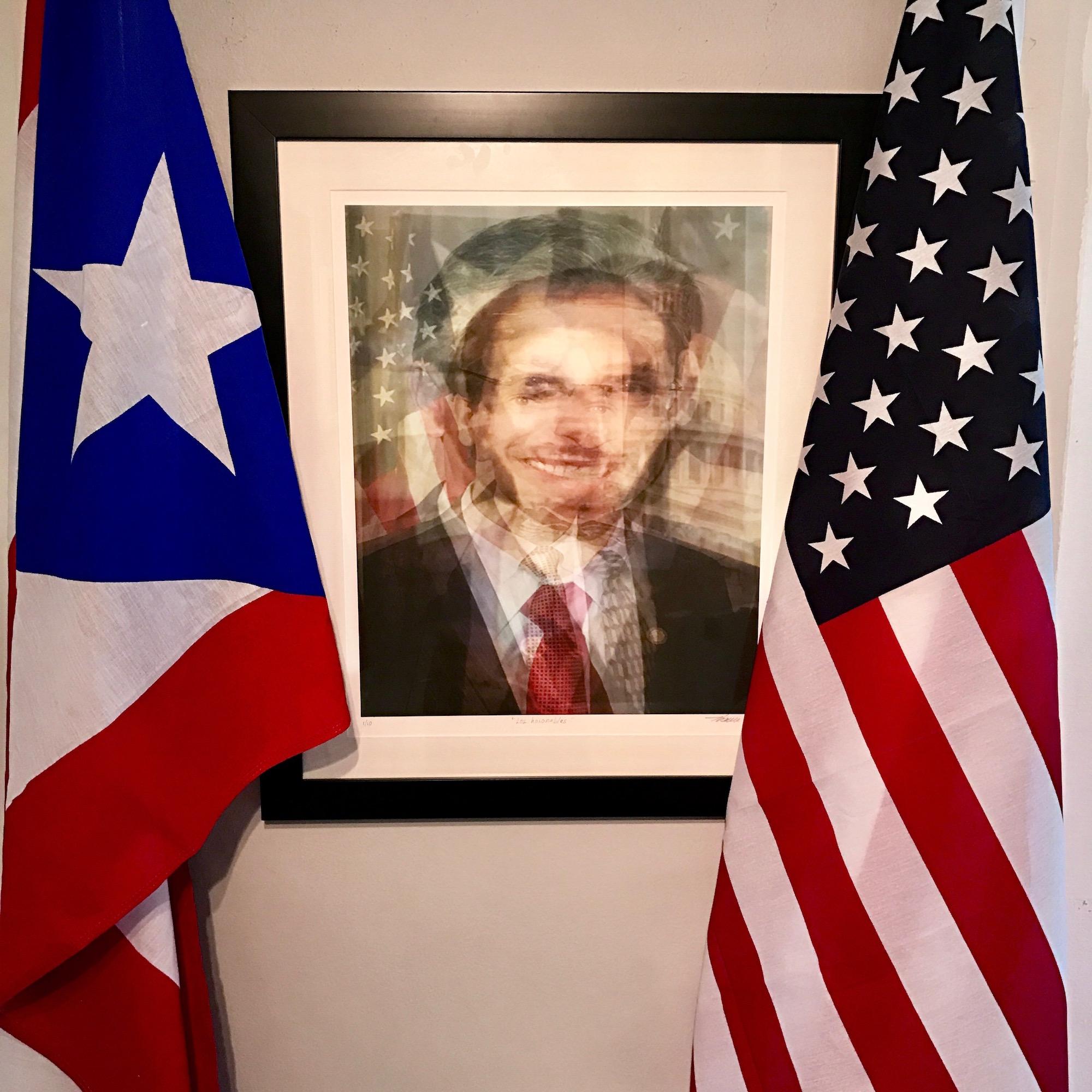 """Karlo Ibarra, """"Los Honorables"""", print on paper. Courtesy of Antonio Castro Barreto."""