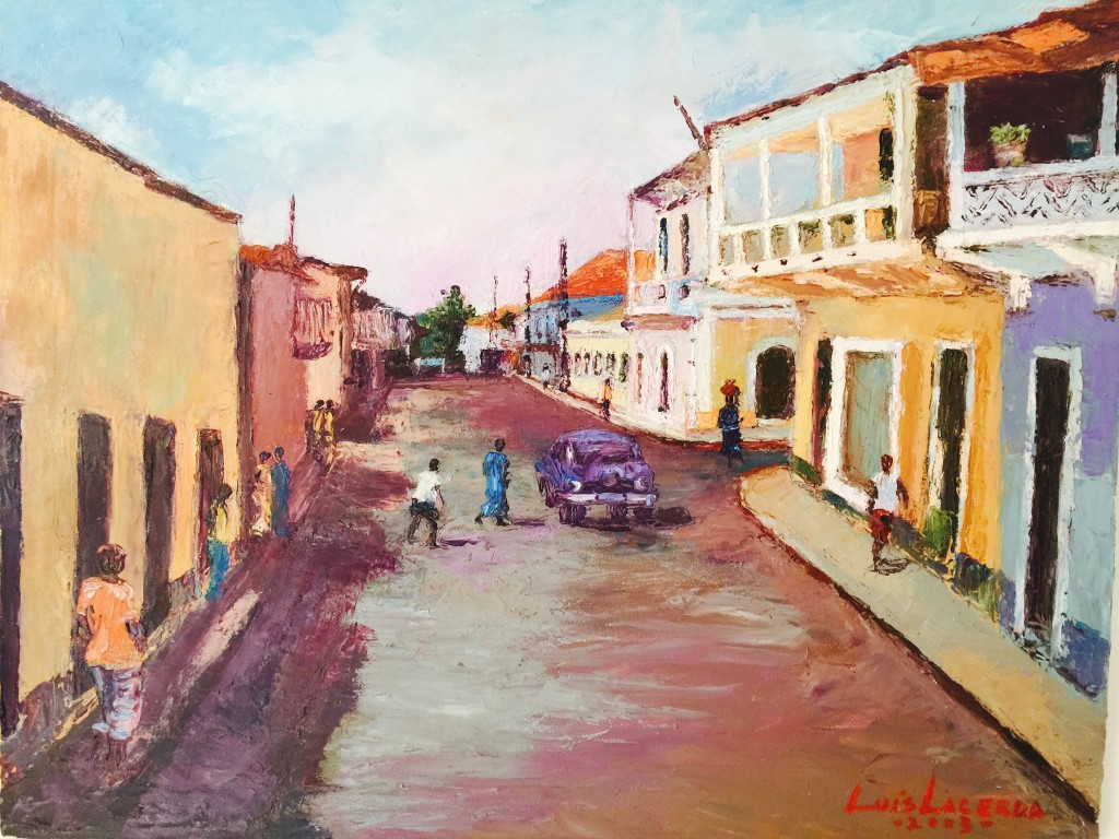 Street of Bissau, by Luis Lacerda. Courtesy of Onofre Santos.