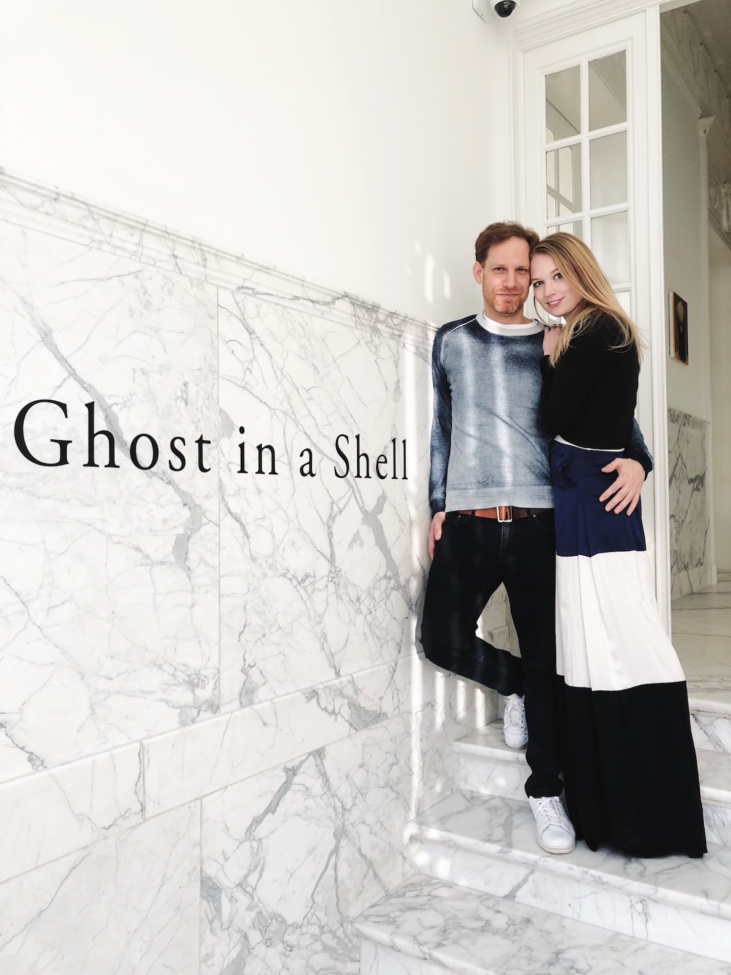 Ronald Rozenbaum and his wife Elena Soboleva at the opening of the Ghost in a Shell exhibition at The Embassy. Courtesy of Ronald Rozenbaum.