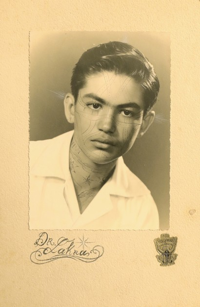 """Dr. Lakra, """"Portratit of a young man"""", 1994. Courtesy of Patricia Martín."""