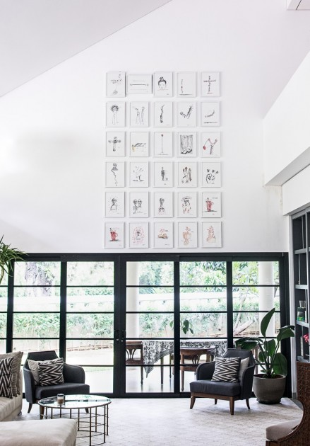 Home interior with works by S Teddy D. Courtesy of Natasha Sidharta.
