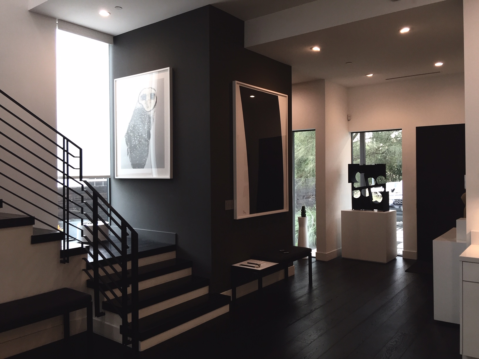 From right to left: a sculpture by Matt Paweski, then works by Richard Serra, and by Laila Jeffrey. Courtesy of Melissa de la Cruz and Michael Johnston.