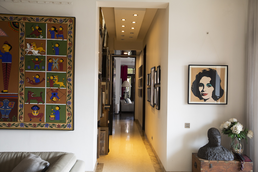 On the right: Andy Warhol, 'Liz', 1965— a work Durjoy fell in love with. Courtesy of Durjoy Rahman.
