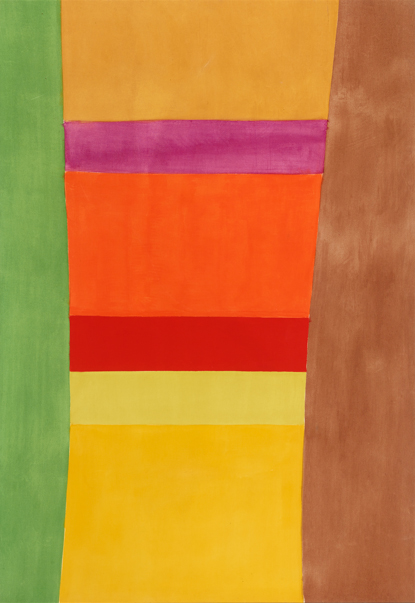 Jack Bush, Ochre Top, 1965. Collection of Jim and Susan Hill. © Estate of Jack Bush /SODRAC (2017)