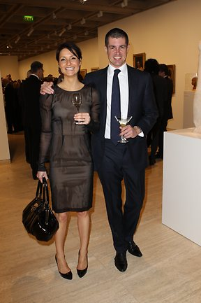 James Roland and Becky Sparks at NSW Art Gallery at the Domain for the Bulgari Art Award Dinner. Photo: Daily Telegraph Australia © Richard Dobson